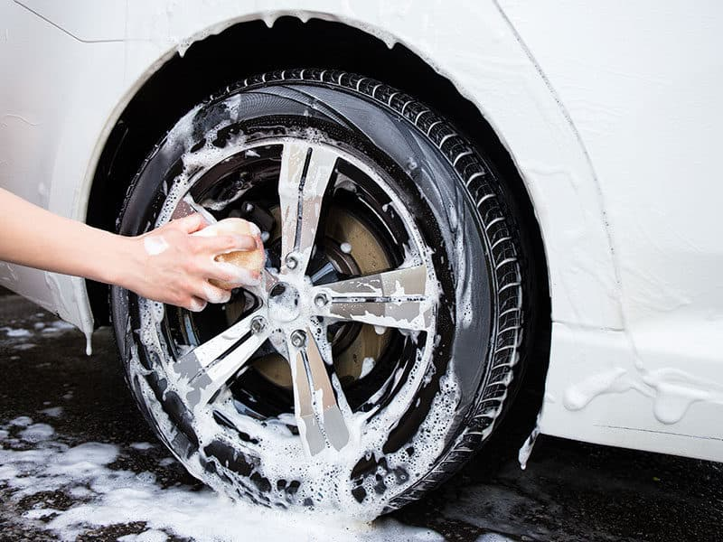 Washing Car Wheel Cleaner