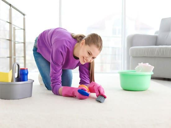 Cleaning carpet home