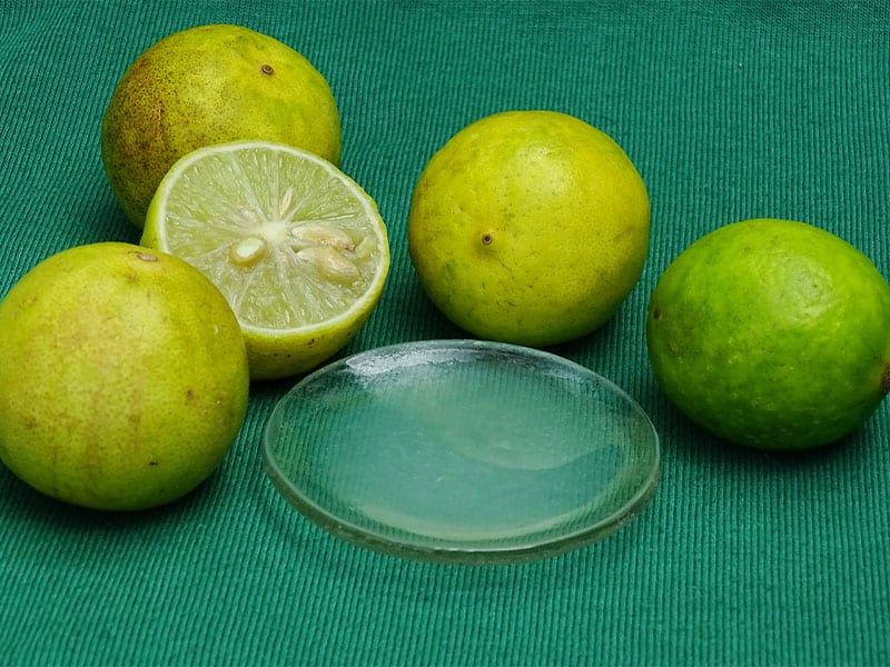 Lemon juice is one of the most common acidity you can easily find in your kitchen