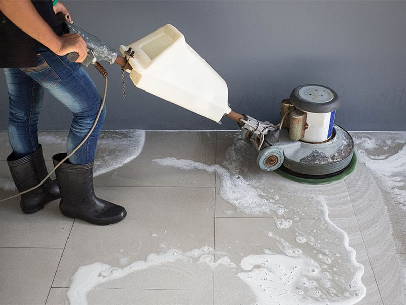 You should mop your marble floors carefully to eliminate all residue.