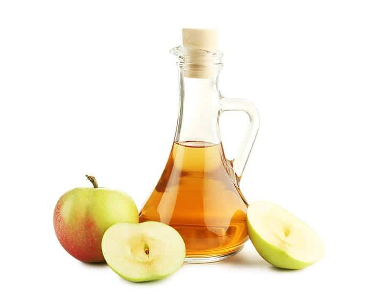 Apple Vinegar Glass Bottle Isolated