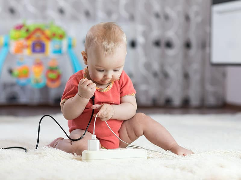 Baby Toddler Playing on Carpet