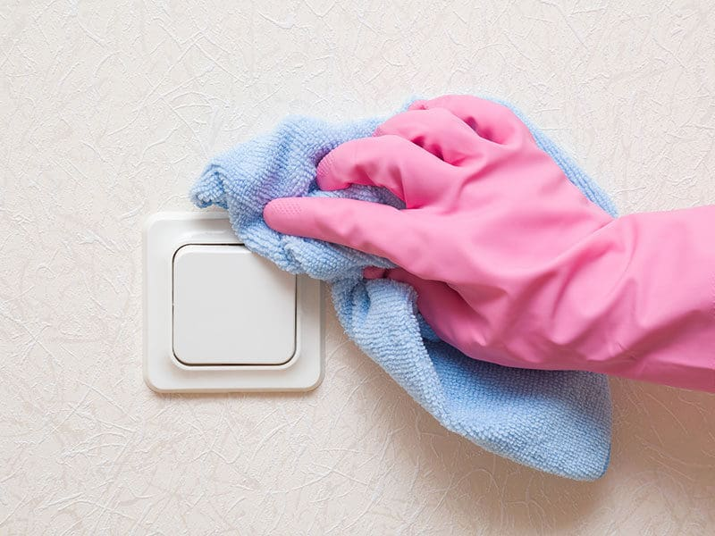 Clean Around Light Switches