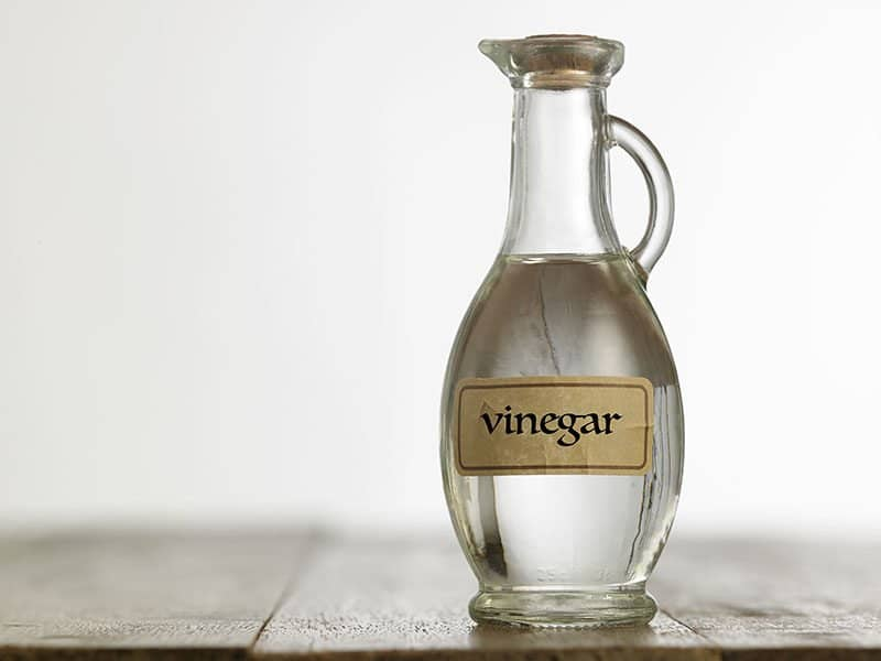 Clean by White Vinegar