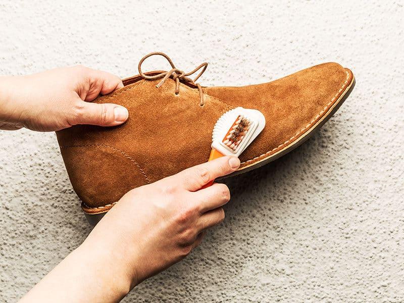 Clean Camel Suede Shoes