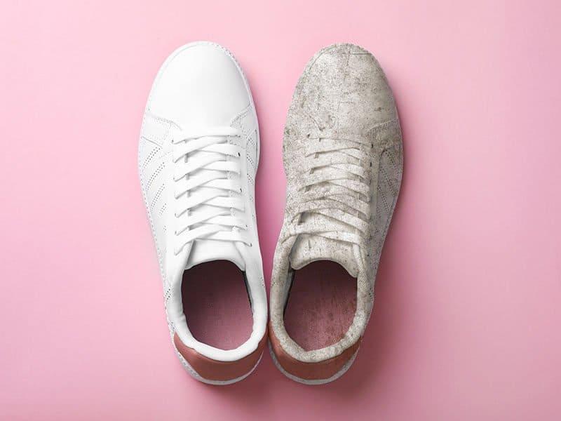 clean white vans shoes