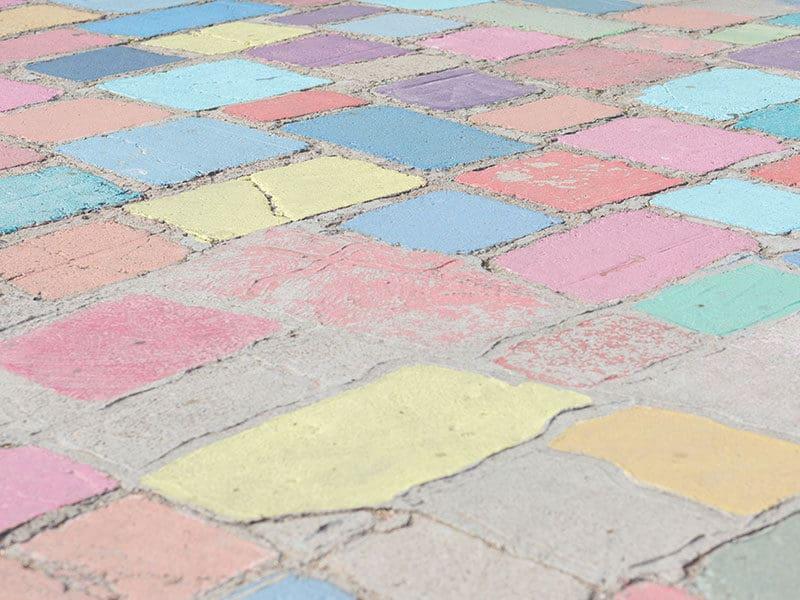Colorful Concrete Floor
