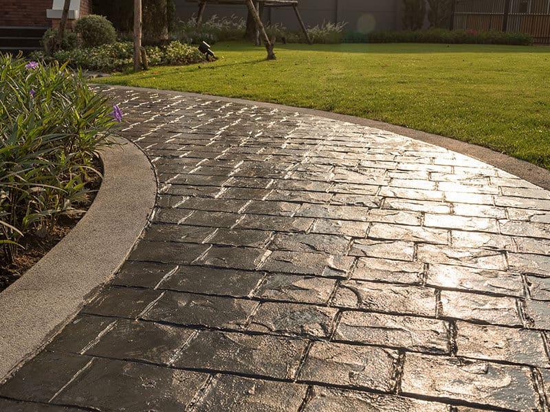 Concrete Floor in the Garden