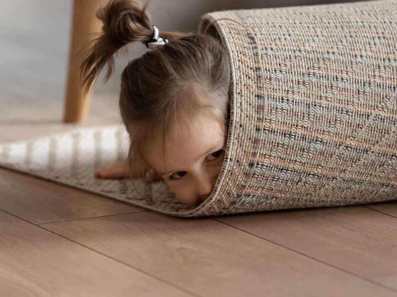 Girl Wrapped Rug