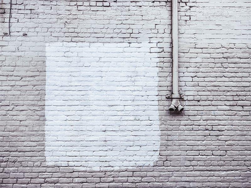 Paint Blotch On Brick