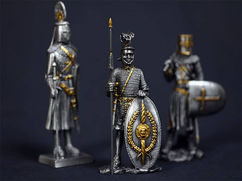 Pewter Soldier Traditional Souvenir