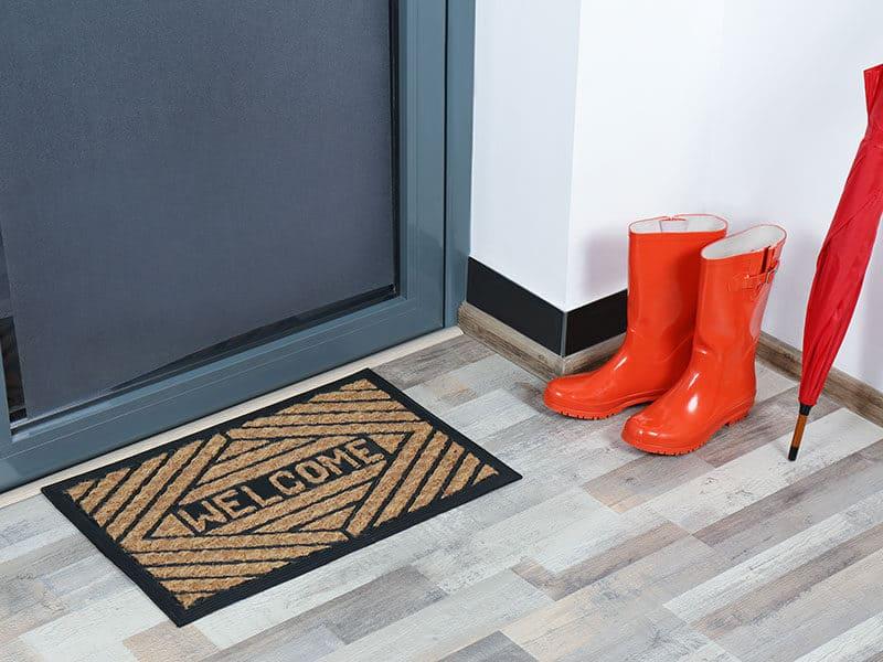 Rubber Boots Umbrella Mat Near Door
