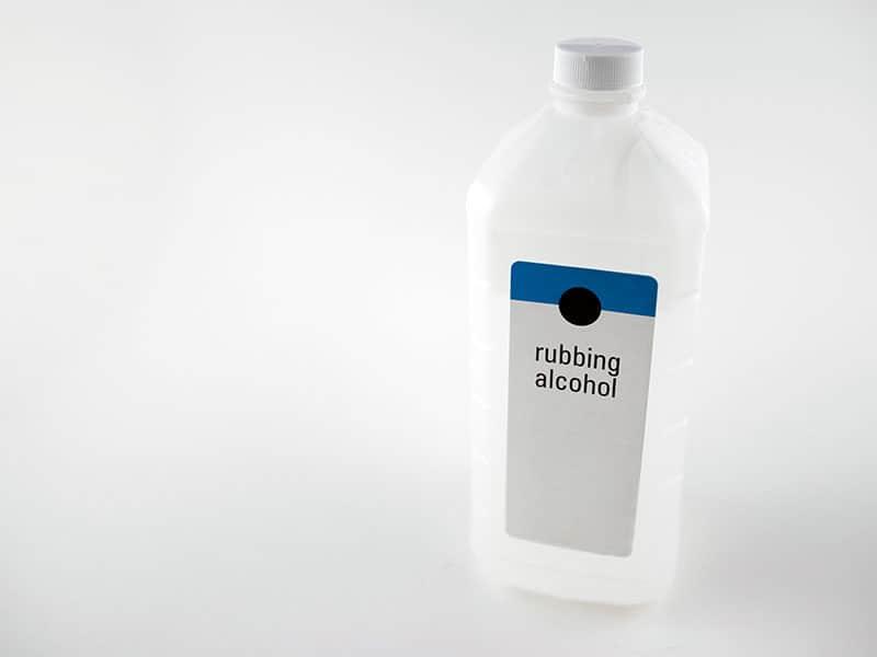 Rubbing Alcohol Bottle Isolated White
