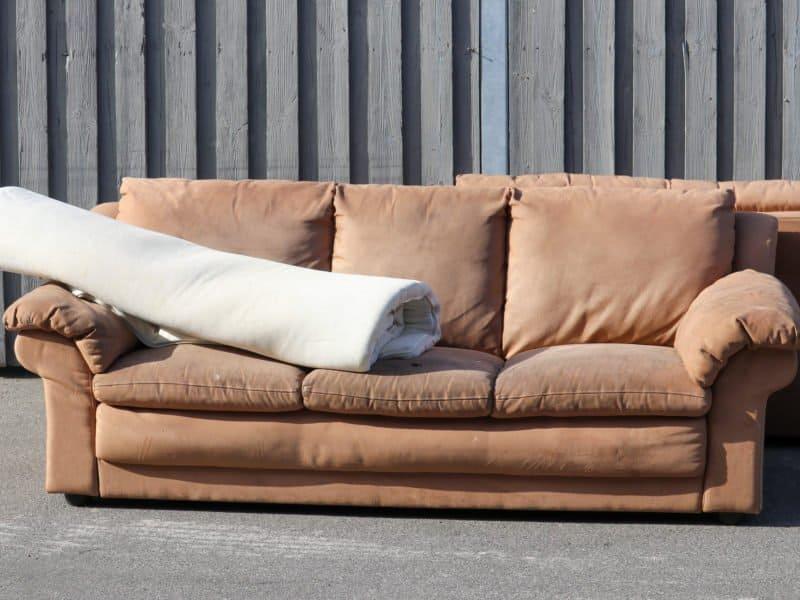 Sofa Carpet On Pavement