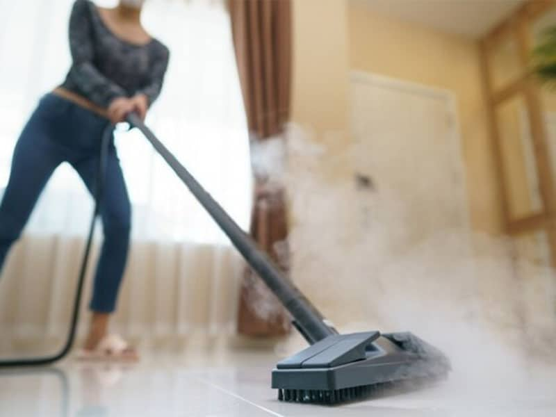 Spotless cleaning has never been easier than with a steam mop!