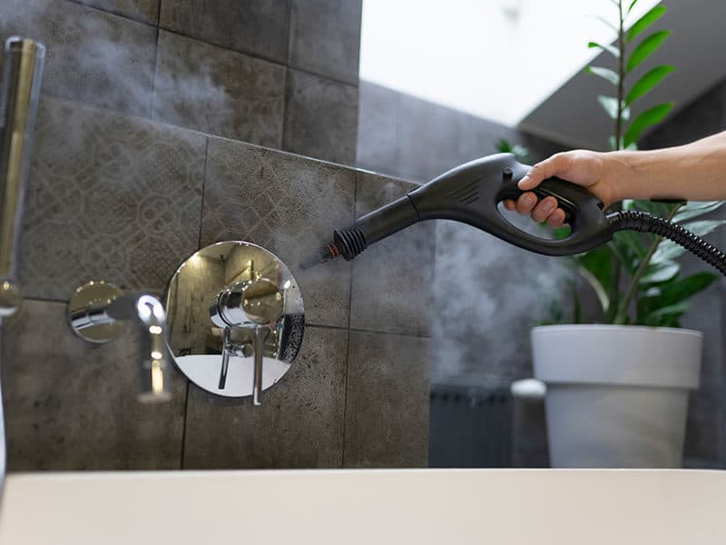 Steam Cleaning the Bathroom