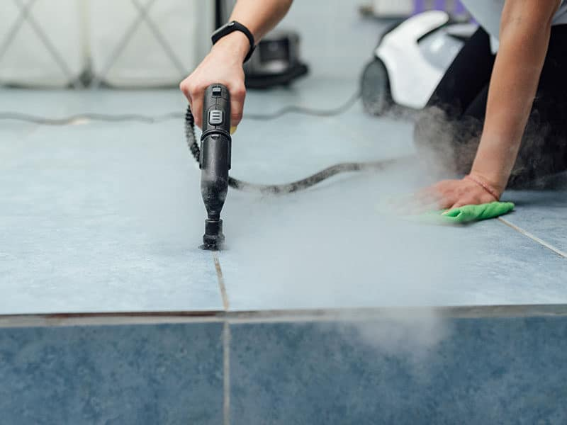 Steam Cleaning the Grout