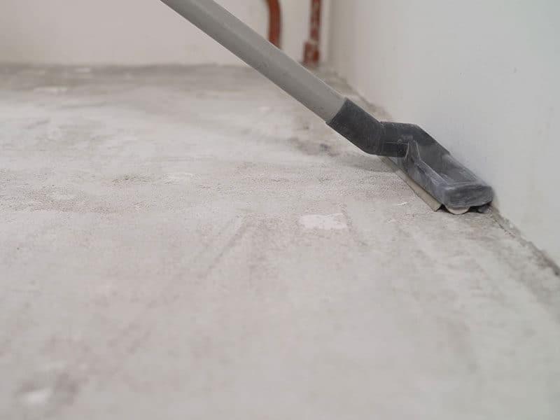 Vacuum the Concrete Floor