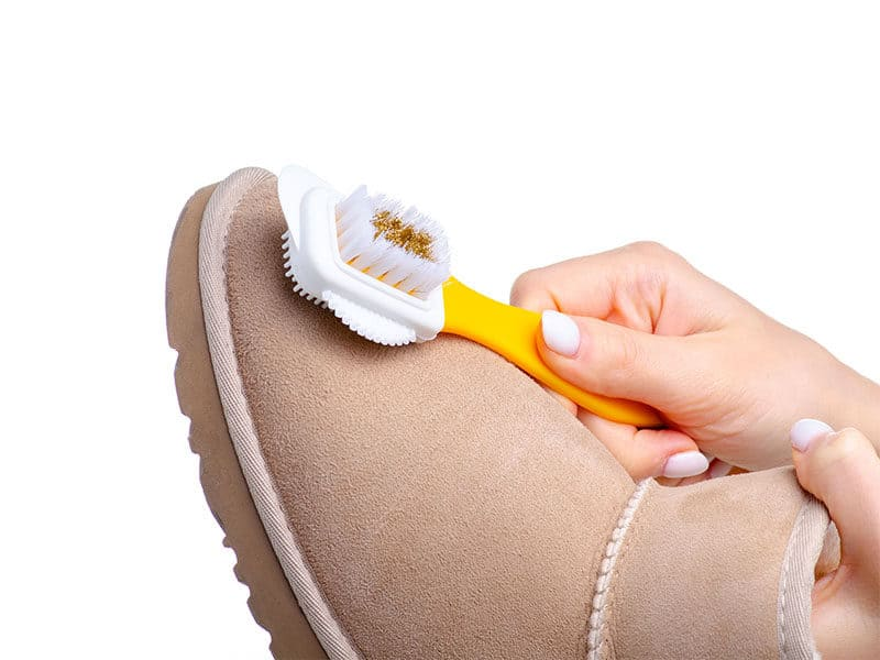 Brush Cleaning Suede Leather
