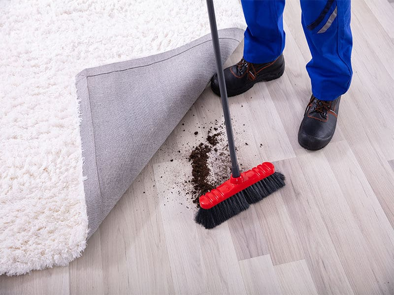 Cleaning Dirt Under