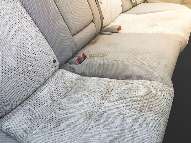 Dirty Interior Car