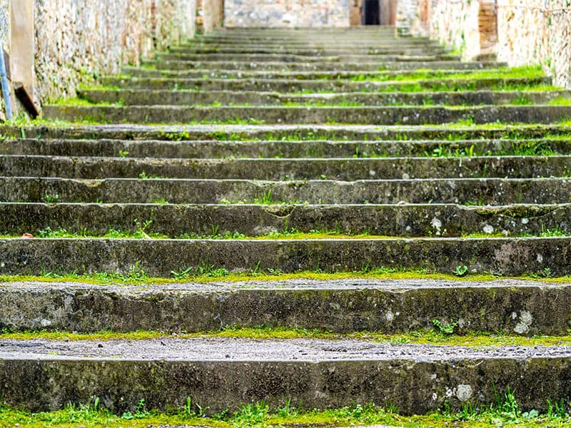Focus Shot Concrete Stairs