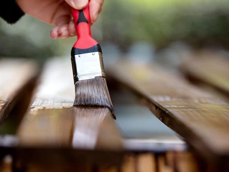 Paintbrush Wooden Boards Varnished