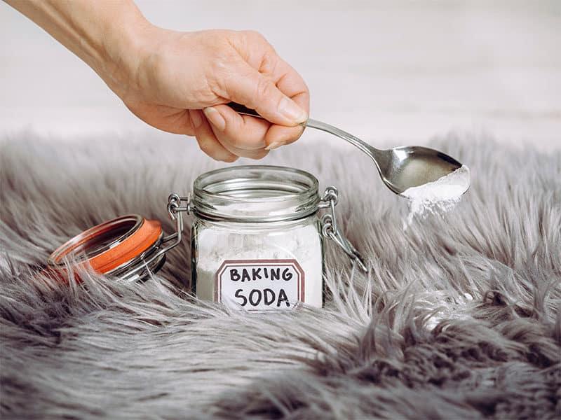 Pouring Baking Soda Sodium