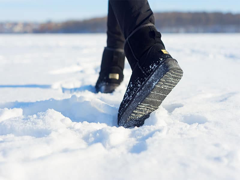 Step By Ugg On Snow