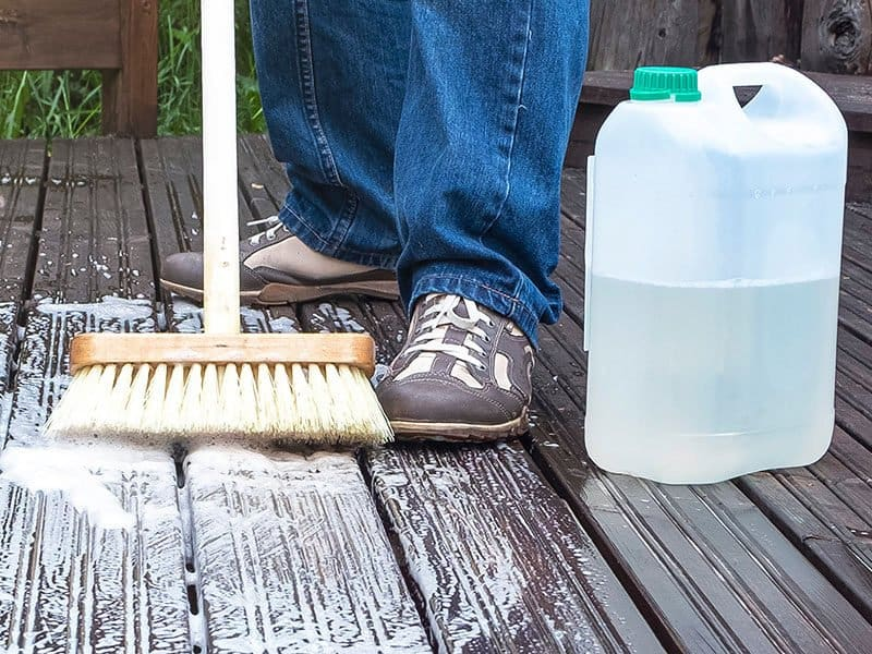 Washes Wooden Deck by Brush