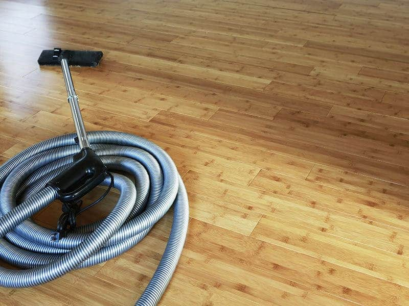 Bamboo Floor Central Vacuum