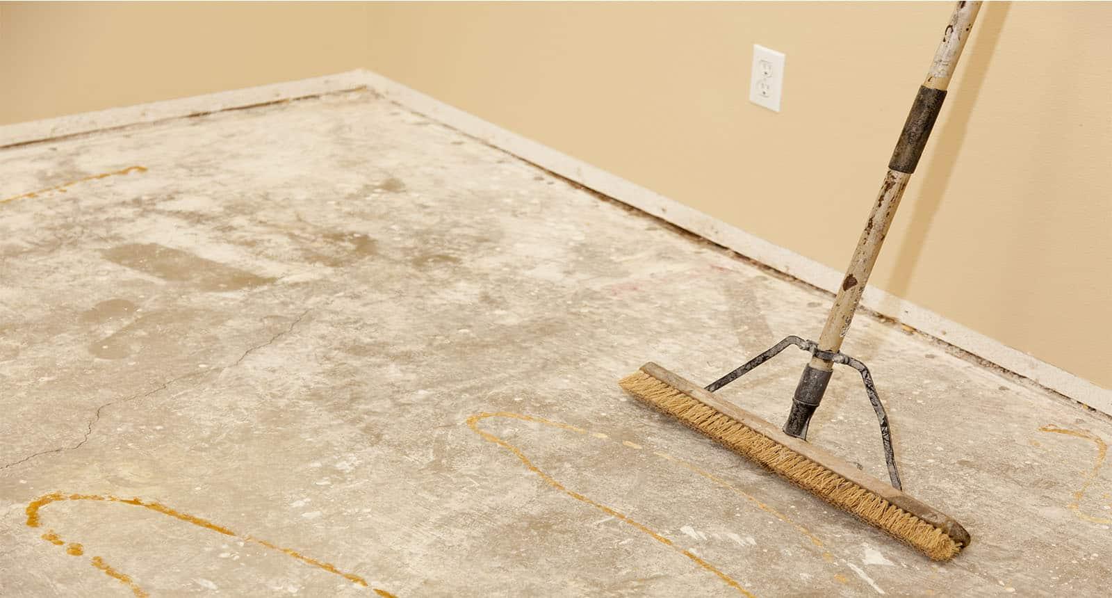 Blank Concrete House Floor Broom