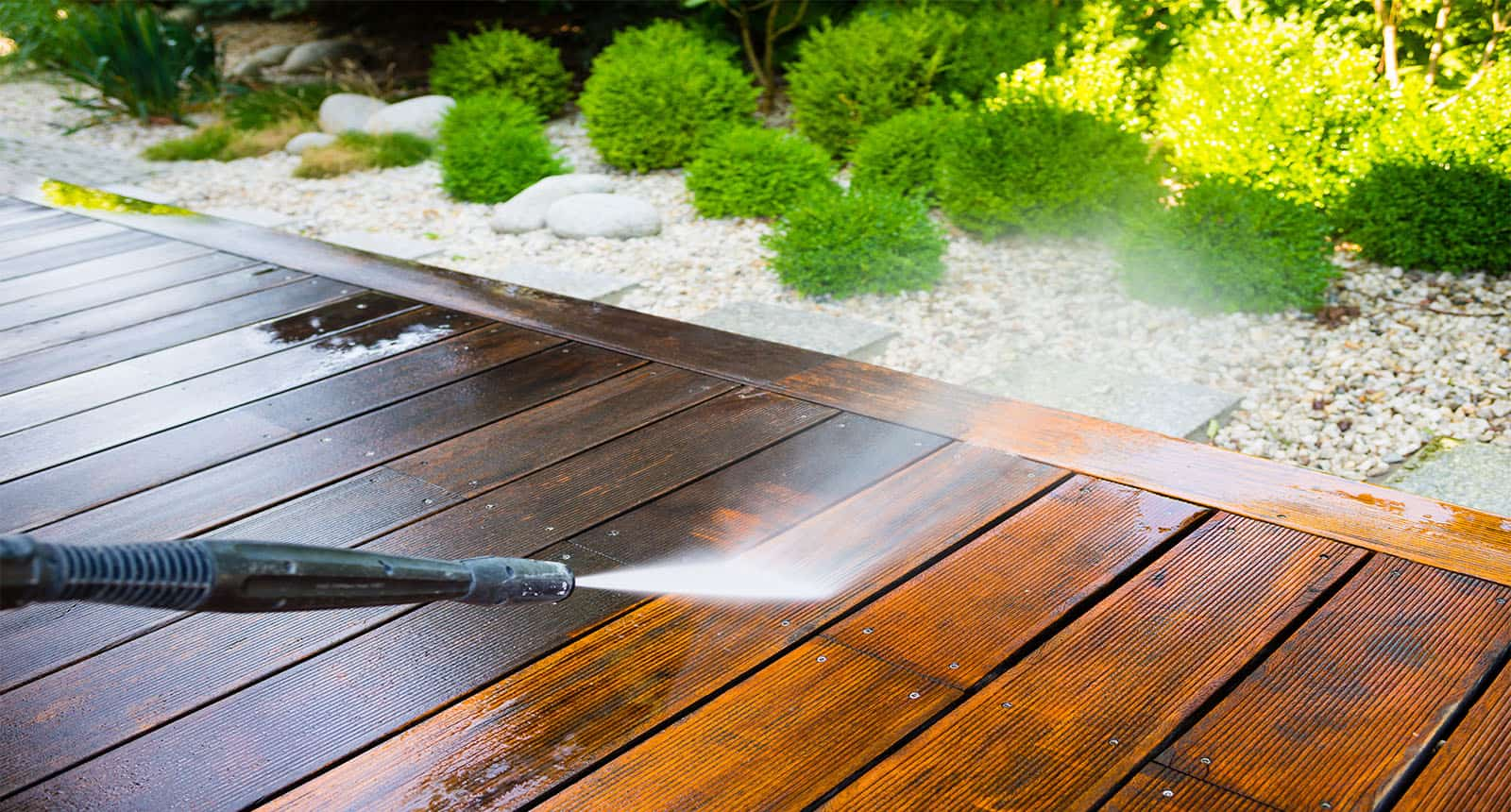 Cleaning Terrace Power High Water