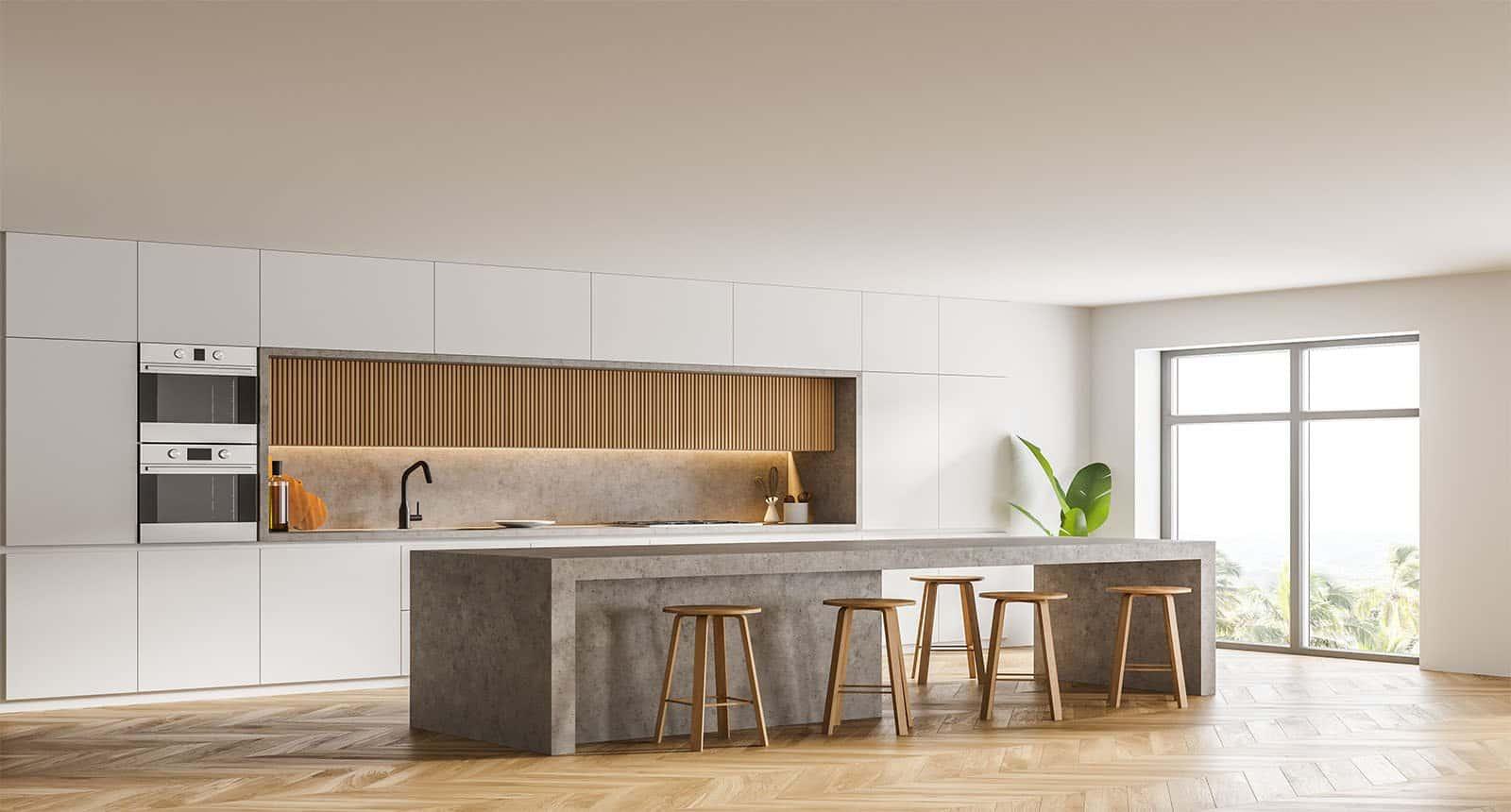 Corner Modern Kitchen White
