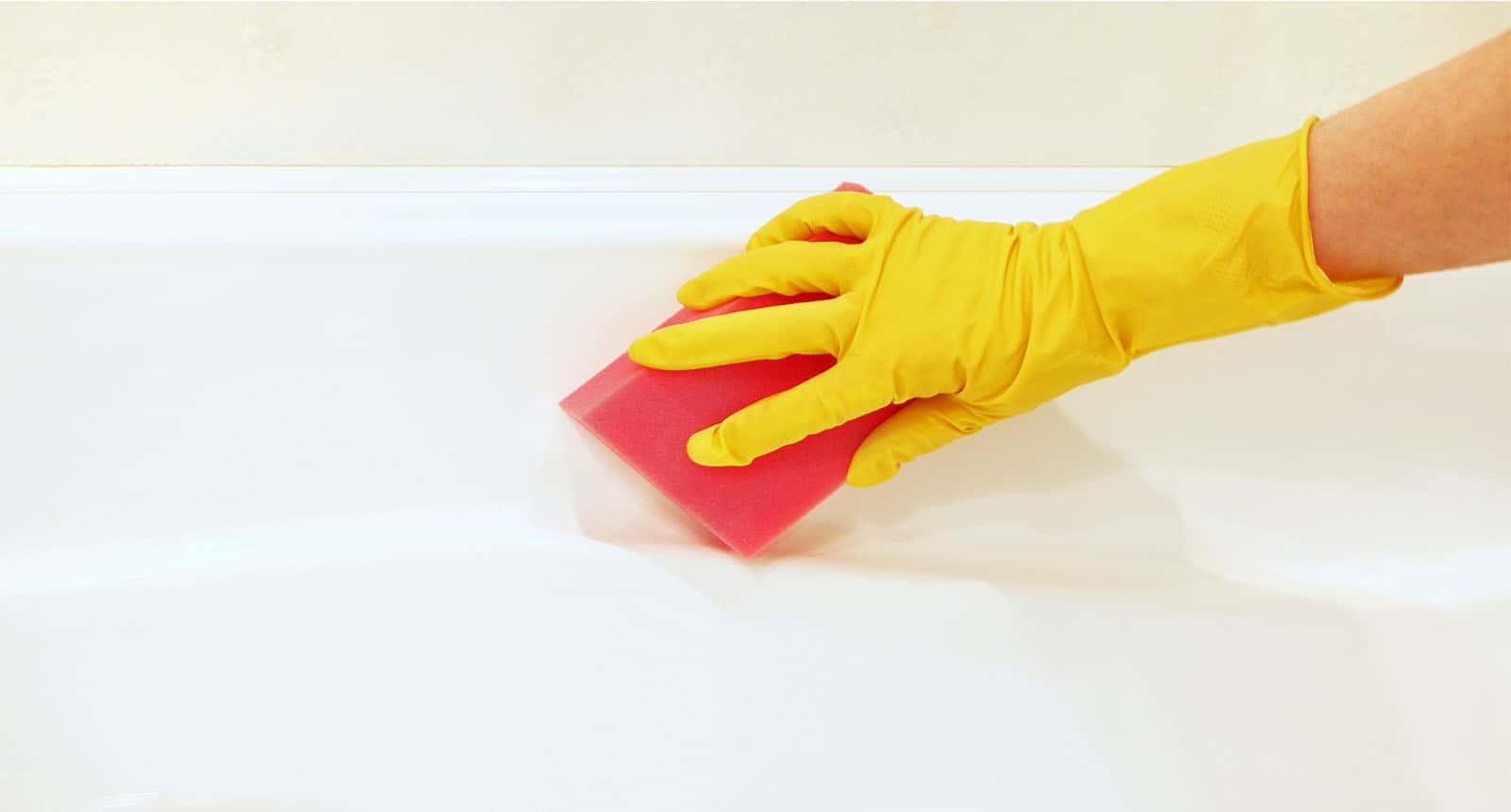 Hand Yellow Rubber Glove