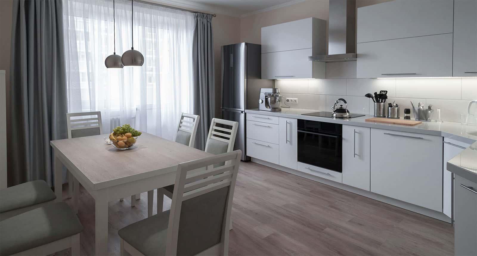 Interior Apartment kitchen