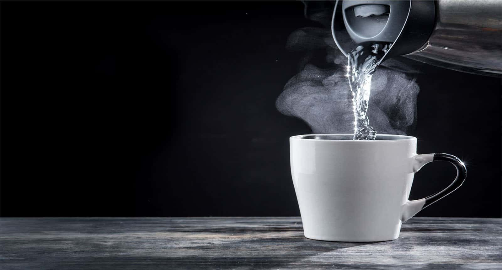 Pouring Hot Water