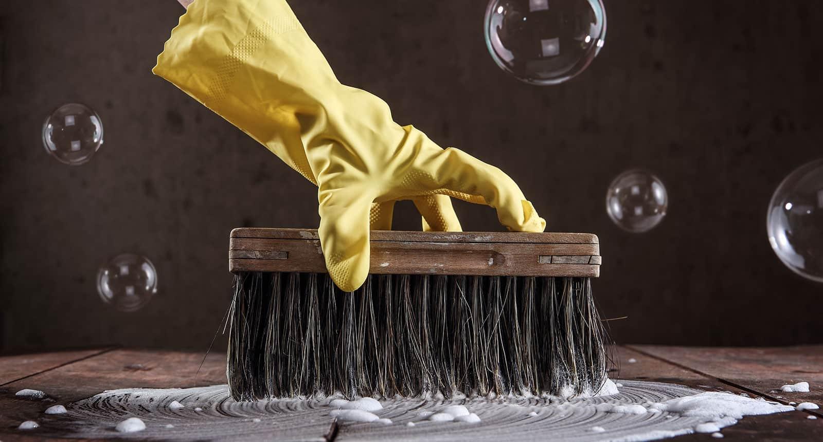 Scrubbing Mold Areas