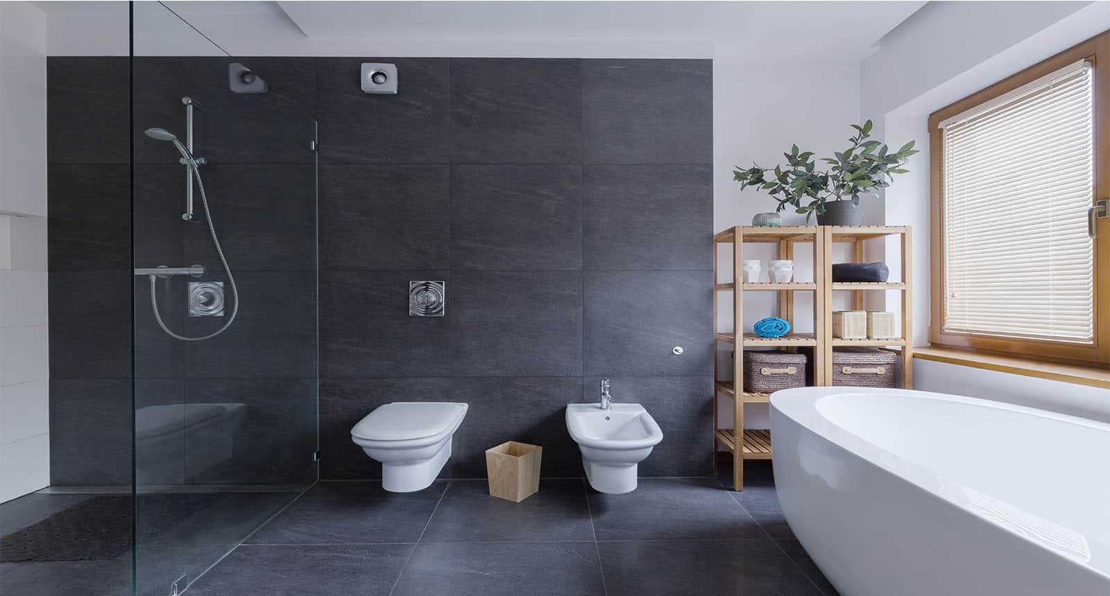 Shower Modern Black Bathroom