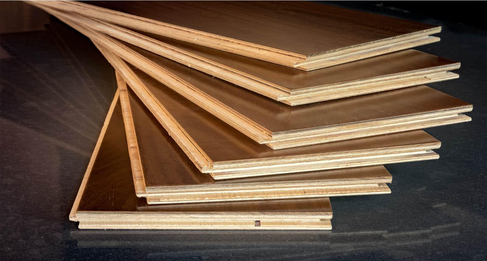 Stacked Engineered Flooring Planks