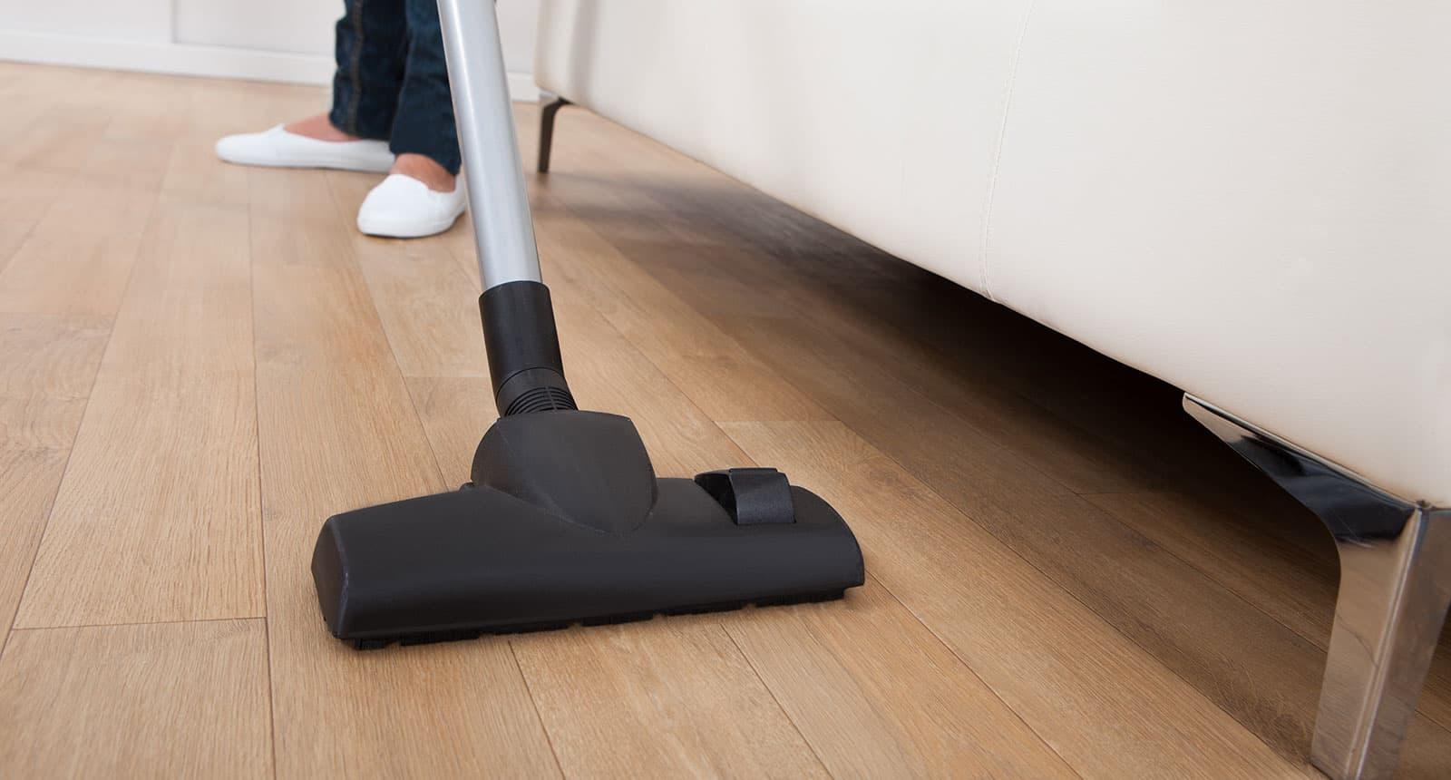 Vacuuming Floor