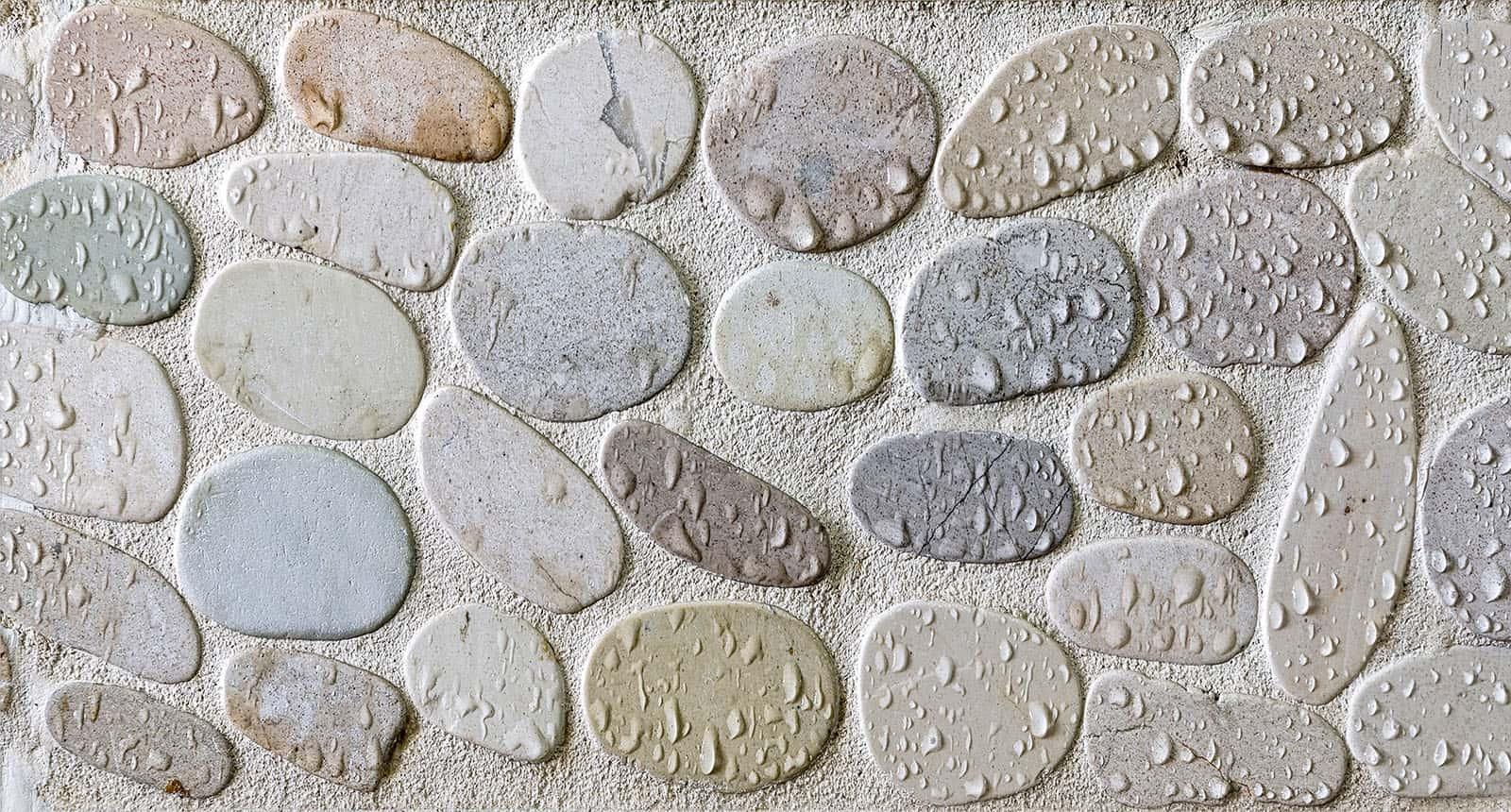 Wet Pebbles Mosaic Tiles