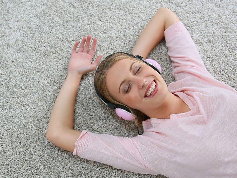 Girl Relaxing on Carpet