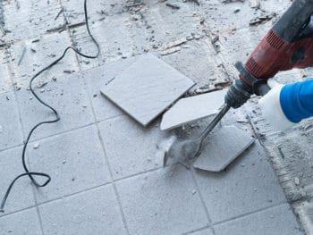Remove Tiles From The Concrete Floor