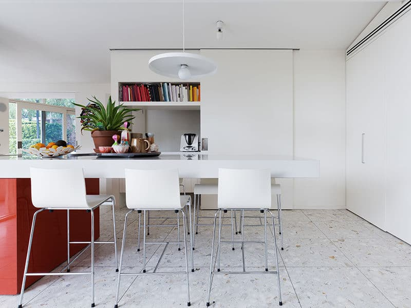 Terrazzo Floors in Kitchen