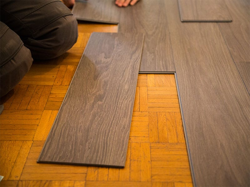 Vinyl Floor Laid Parquet