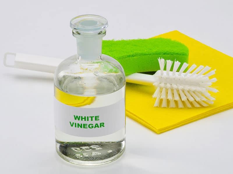 White vinegar glass bottle