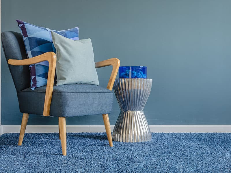 Wooden Chair on Carpet