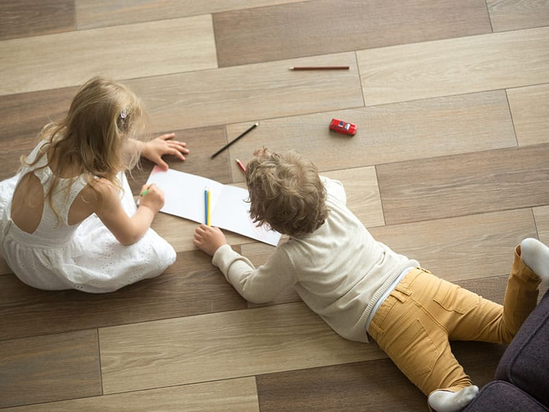 Brother Playing Drawing Together