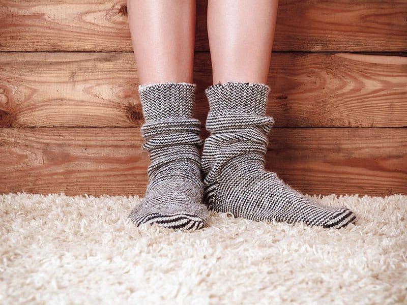 Gray Socks On Carpet